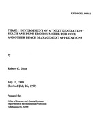 "Phase 1 development of a ""next generation"" beach and dune erosion model for CCCL and other beach management applications"