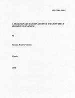 A preliminary examination of amazon shelf sediment dynamics
