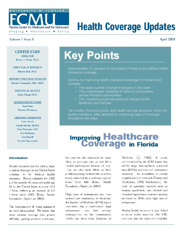 Health coverage update - Page 1