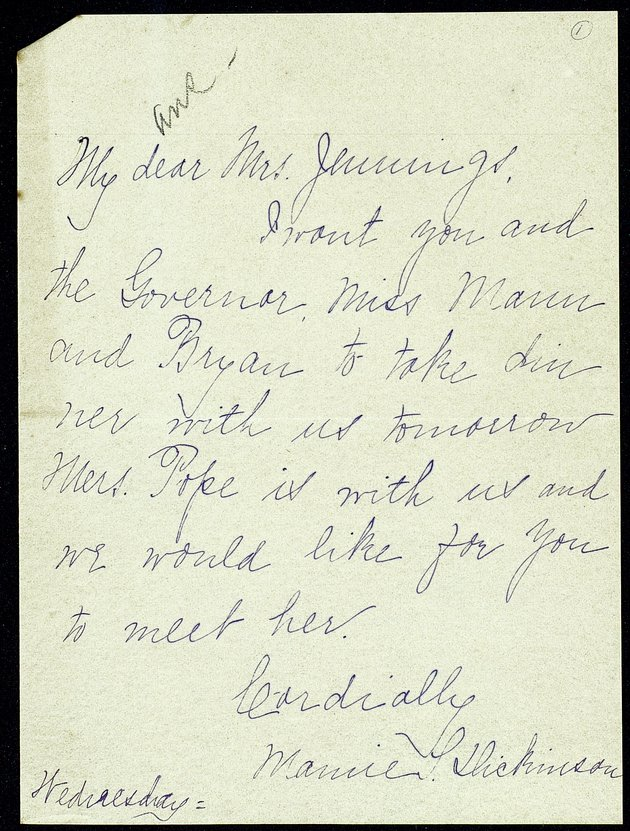 Correspondence: 1901 January-July - Still Image #1