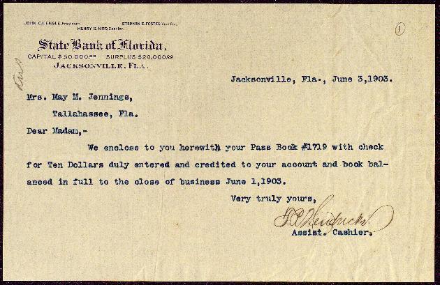 Correspondence: 1903 June-August - Still Image #1
