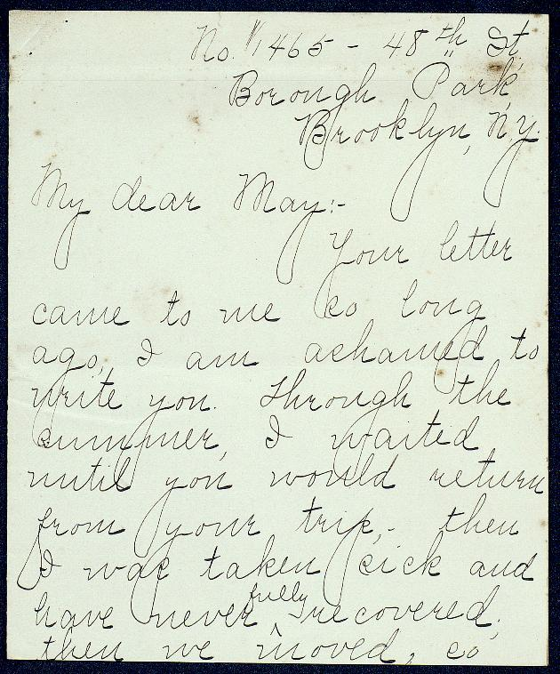 Correspondence: 1905-1908 - Still Image #1
