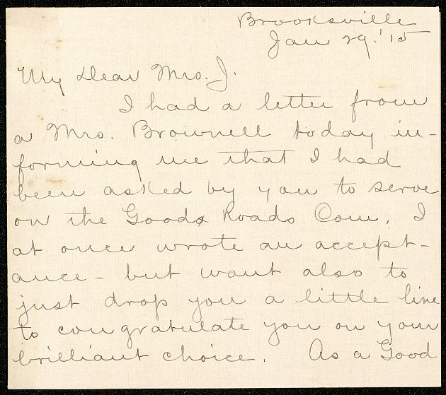 Correspondence: 1915 January - Still Image #1