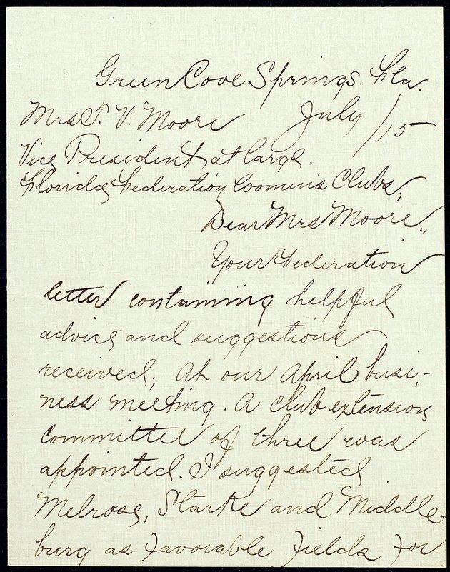Correspondence: 1915 July - Image 1
