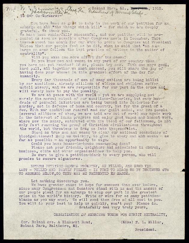Correspondence: 1915 November - Image 1