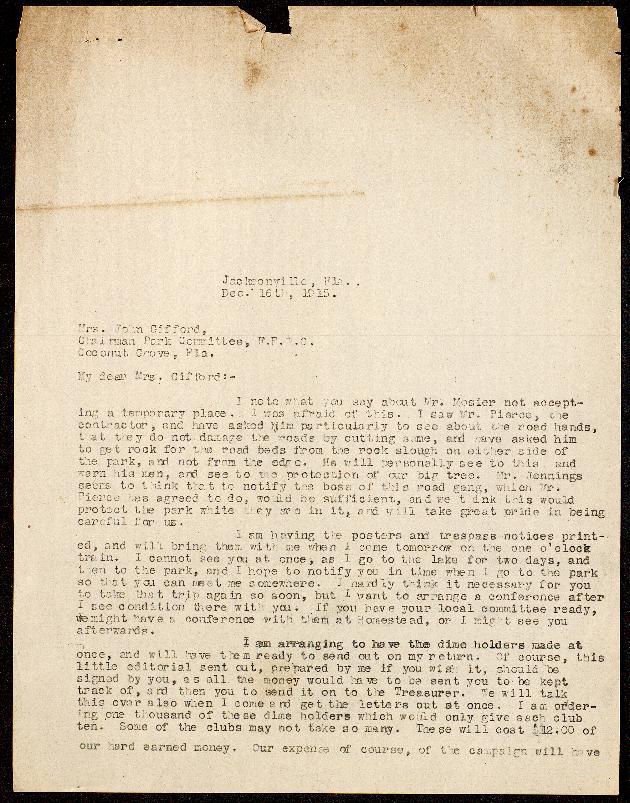 Correspondence: 1915 December - Image 1