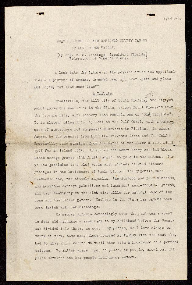 Correspondence: 1916 January - Image 1