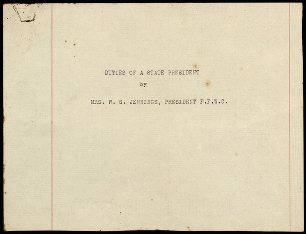 Correspondence: 1916 November-December - Page 1