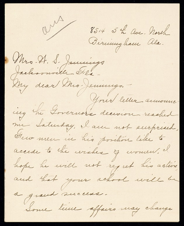 Correspondence: 1917 March-April - Page 1
