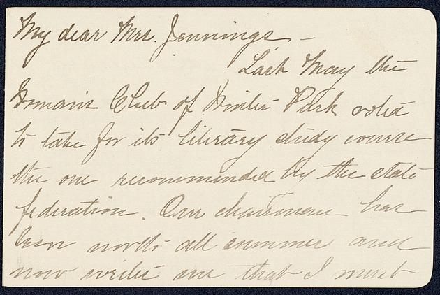 Correspondence: 1917 October - Page 1
