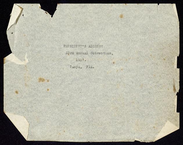 Correspondence: 1917 November - Page 1