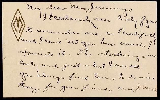 Correspondence: 1918 January - Page 1