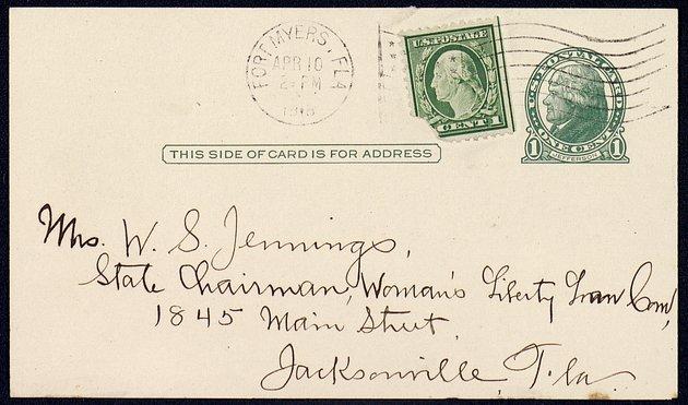 Correspondence: 1918 April - Page 1
