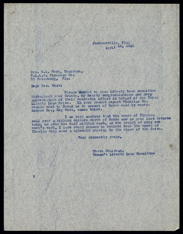 Correspondence: 1918 April -
