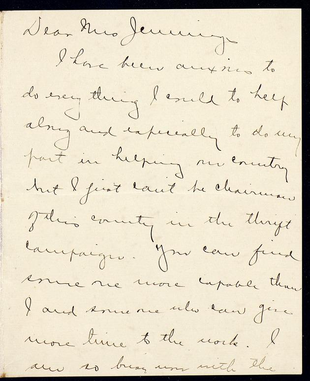 Correspondence: 1918 May - Page 1