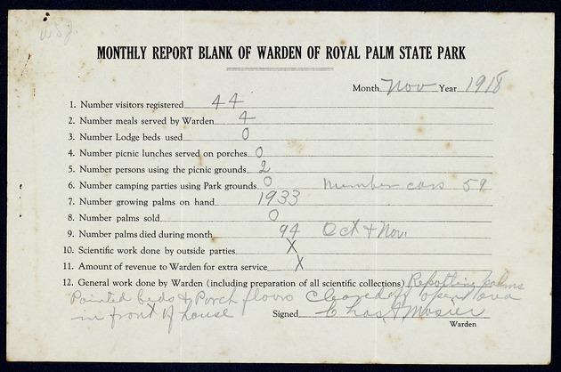 Correspondence: 1918 November - Page 1