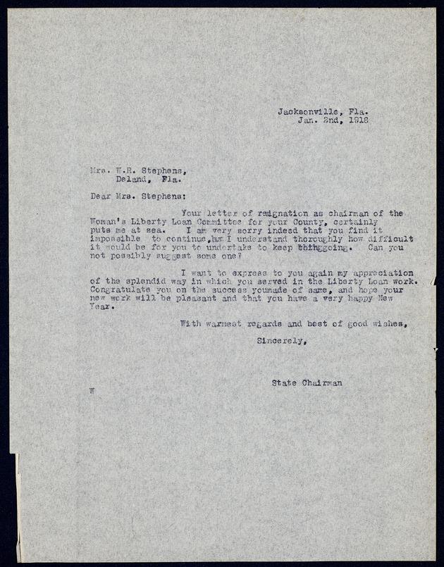 Correspondence: 1919 January - Page 1