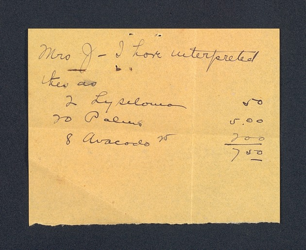 Correspondence: 1919 April - Page 1