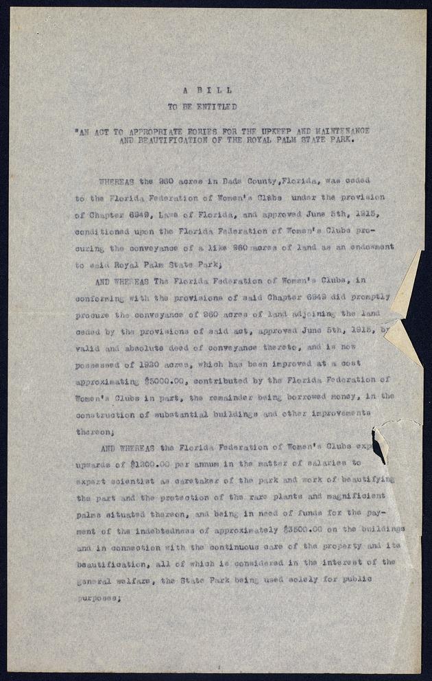 Correspondence: 1921 January - Page 1