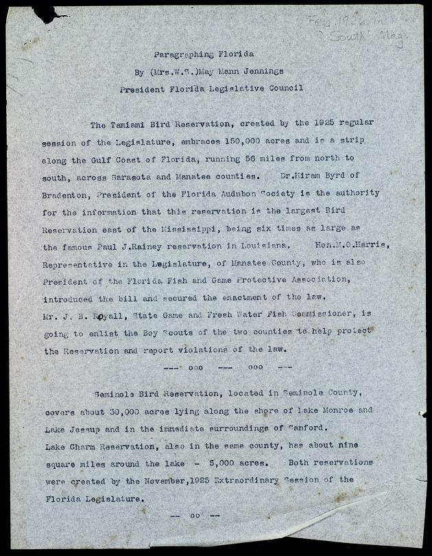 Correspondence: 1926 - Page 1