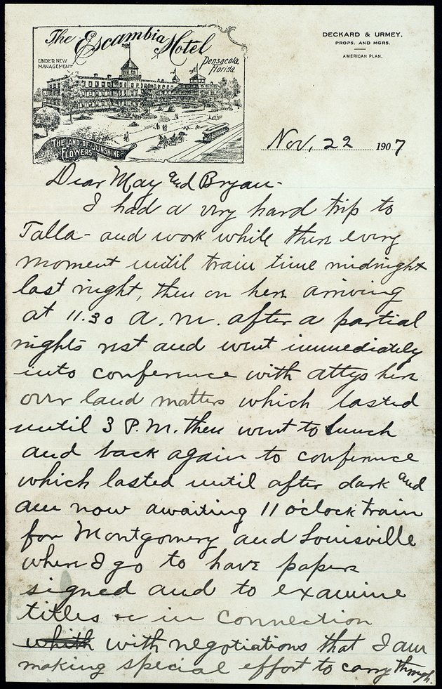 Personal Correspondence: 1907-1908 - Page 1