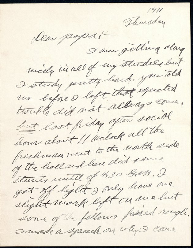 Personal Correspondence: 1911-1913 - Page 1