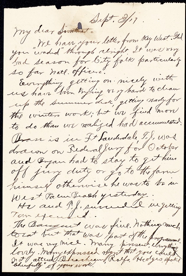 Personal Correspondence: 1917-1919 - Page 1