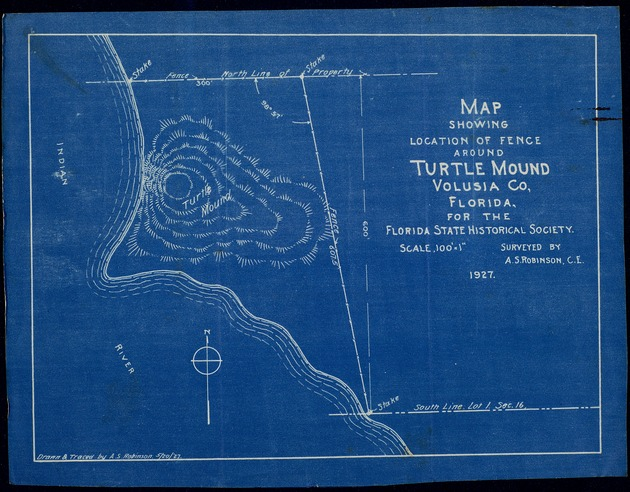 Map of Turtle Mound, magazine articles, speeches, etc. - Page 1
