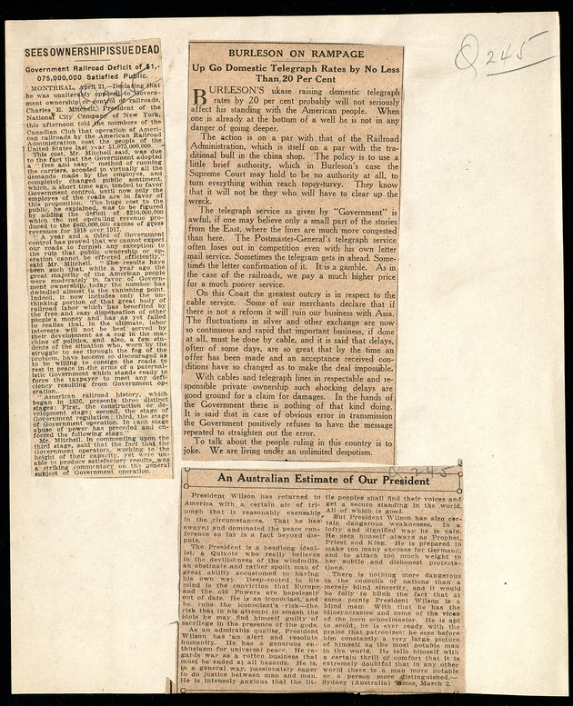 Miscellaneous Newspaper Clippings - Page 1