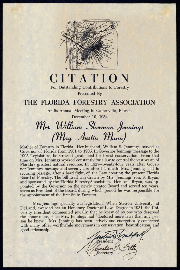 Department of Conservation and Natural Resources Reports (Florida Federation of Women's Clubs) - Page A-1