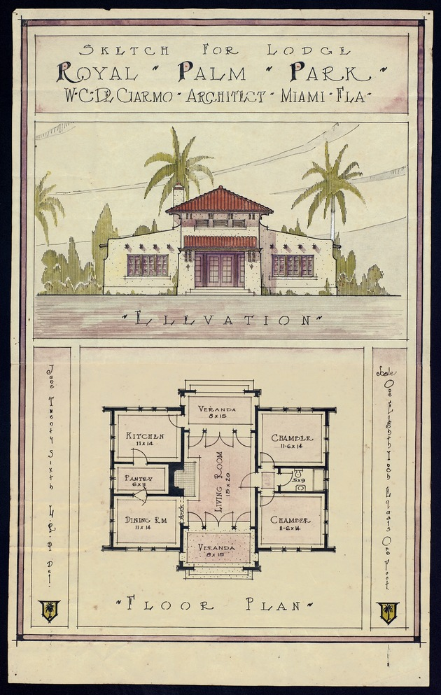 Sketch for Royal Palm Park Lodge - Image 1