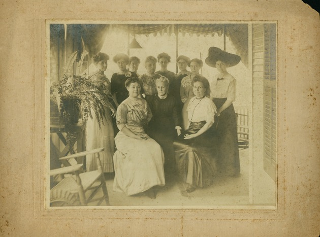 May Mann Jennings seated at front left in group of women - Image 1