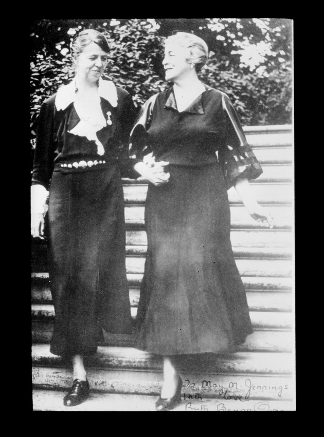 Negative: Ruth Bryan Owen (R) and Eleanor Roosevelt (L)