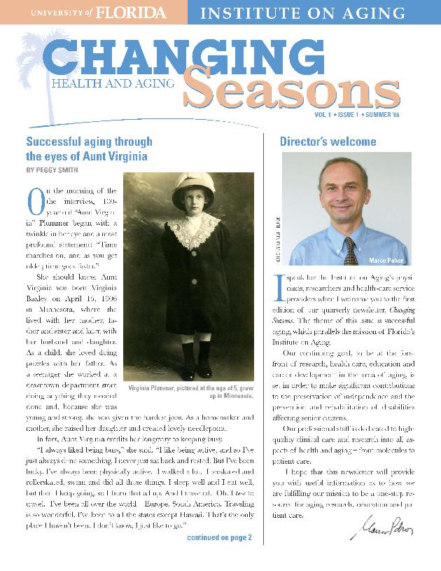 Changing seasons newsletter - Page 1