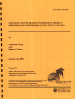 Manatee County Beach Nourishment Project performance and erosional hot spot analyses