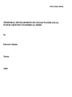 Temporal development of clear water local scour around cylindrical piers