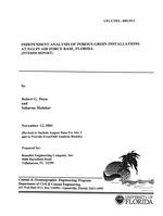 Independent analysis of porous groun installations at Eglin Air Force Base, Florida