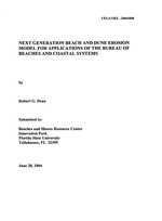 Next generation beach and dune erosion model for applications of the Bureau of Beaches and Coastal Systems