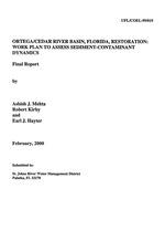 Ortega/Cedar River Basin, Florida, restoration : Work plan to assess sediment-containment dynamics