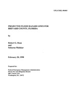 Projected flood hazard lines for Brevard County, Florida