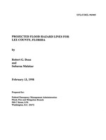 Projected flood hazard lines for Lee County, Florida