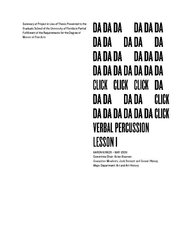 Verbal percussion : lesson 1 - Page i