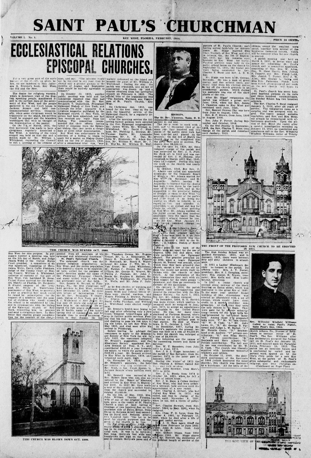 Saint Paul's Churchman - Page 1