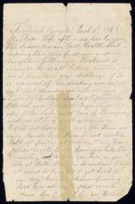 Bellamy, Calvin to his Wife Clarisa- February 4, 1863- Fredericksburg, Va.  (1 sheet, 2 leaves)