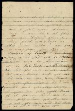 Bellamy, Richard C. to Clarisa Bellamy- April 25, 1863 (1 sheet, 2 leaves)