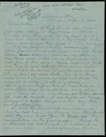 Duren, Charles M. to his Father,  February 18, 1864 - Baldwin, Fla.  (1 sheet, 4 leaves)