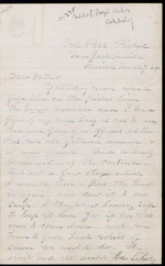 Duren, Charles M. to his Father, March 7, 1864 - Jacksonville, Fla.   (2 sheets, 8 leaves)