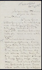 Duren, Charles M. to his Mother, April 13, 1864 - Jacksonville, Fla.  (1 sheet, 4 leaves)