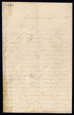 Bailey, Cosmo O. to his Father - Camp Convalescence - Oct. 13-15, 1862