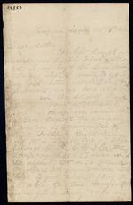 Bailey, Cosmo O. to his Mother - Camp near Knoxville, Tenn. - Oct. 18-20, 1862